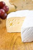 Brie, stilton and grapes Stock Images