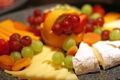 Brie Swiss and Fruit Royalty Free Stock Image