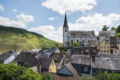 Briedel, a small village in the German Mosel valley Stock Images