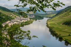 Briedel, wine village in the Moselle valley Germany royalty free stock images