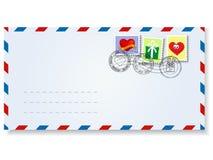 Brief aan de dag van de valentijnskaart Stock Foto