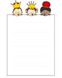 Brief aan de Drie Koningen Royalty-vrije Stock Foto
