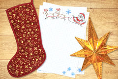 Brief aan de Kerstman Royalty-vrije Stock Foto's