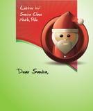 Brief aan de Kerstman Stock Foto's