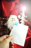 Brief aan Kerstman Royalty-vrije Stock Foto's