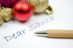 Brief aan Kerstman Royalty-vrije Stock Afbeeldingen