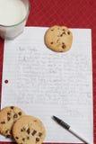 Brief aan Kerstman. Verticaal Beeld royalty-vrije stock fotografie