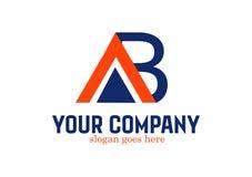 Brief ab Logo Design Vector Stock Afbeeldingen