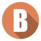 Brief B met een lange schaduw Vector illustratie EPS10 vector illustratie