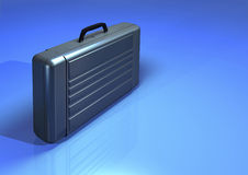 Brief case. Illustration of briefcase on plain blue background Royalty Free Stock Image