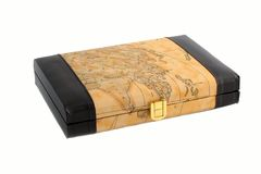 Brief case with map royalty free stock images