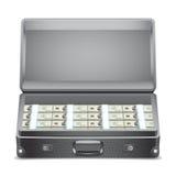 Brief-case with money. Stock Photos
