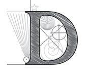 Brief D vector illustratie