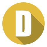 Brief D met een lange schaduw Vector illustratie EPS10 stock illustratie