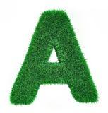 Brief die van gras wordt gemaakt Royalty-vrije Stock Afbeelding