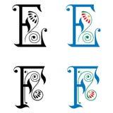 Brief E en F, Kleur en Zwart-wit Royalty-vrije Stock Fotografie