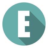 Brief E met een lange schaduw Vector illustratie EPS10 vector illustratie