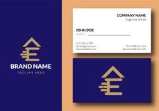 Brief E Real Estate Onroerende goederen Logo Design - royalty-vrije illustratie