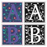 Brief A en B Royalty-vrije Stock Afbeelding