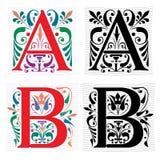 Brief A en B, Kleur en Zwart-wit Royalty-vrije Stock Fotografie