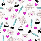 Brief en inkt naadloos patroon vector illustratie