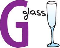 Brief G - glas Royalty-vrije Stock Foto