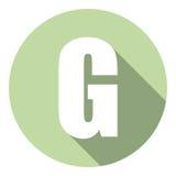 Brief G met een lange schaduw Vector illustratie EPS10 royalty-vrije illustratie