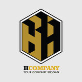 Brief H Company Logo Vector stock foto's