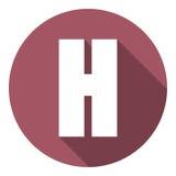 Brief H met een lange schaduw Vector illustratie EPS10 royalty-vrije illustratie