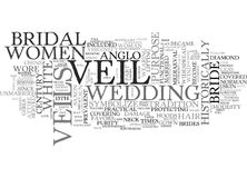 A Brief History Of The Bridal Veil Word Cloud Stock Photography
