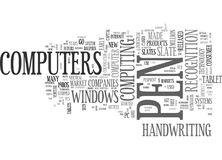 A Brief History Of Tablet Pcs Word Cloud Royalty Free Stock Images