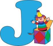 Brief J met Jack in een Vakje stock illustratie