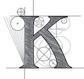 Brief K vector illustratie