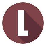 Brief L met een lange schaduw Vector illustratie EPS10 stock illustratie