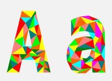 Brief A, laag polyalfabet, geometrische stijl Abstracte vector royalty-vrije illustratie