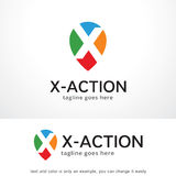 Brief X Logo Template Design Vector, Embleem, Ontwerpconcept, Creatief Symbool, Pictogram royalty-vrije illustratie