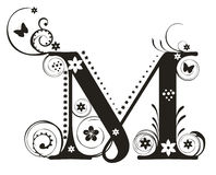 Brief M royalty-vrije illustratie