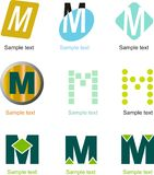 Brief M Logo royalty-vrije illustratie