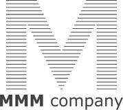Brief M Striped Logo Royalty-vrije Stock Fotografie