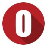 Brief O met een lange schaduw Vector illustratie EPS10 stock illustratie
