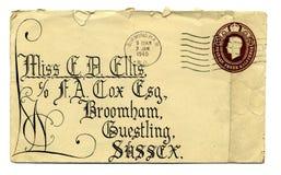 Brief in oorlogstijd Royalty-vrije Stock Foto's