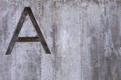 Brief A op Beton Royalty-vrije Stock Afbeeldingen