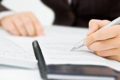 Brief op het document Stock Fotografie
