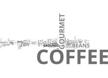 A Brief Overview Of Gourmet Coffee Word Cloud Stock Image