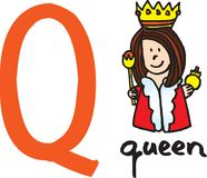 Brief Q - koningin Royalty-vrije Stock Foto