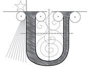 Brief U vector illustratie