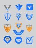 Brief V Embleem vector illustratie