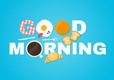 Brief van de goedemorgen de vectorillustratie Stock Foto's