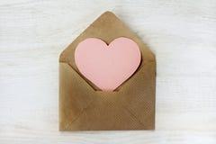 Brief van gelukwensen de Gelukkige Valentine Royalty-vrije Stock Foto's