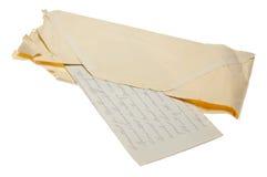 Brief vanaf 1975 Stock Foto's